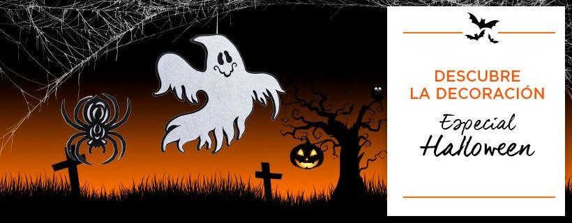 Decoración de escaparate de Halloween para tiendas y comercios