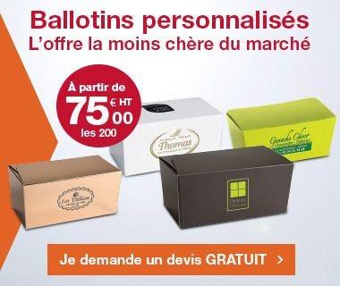 Démarquez-vous: personnalisez vos ballotins !