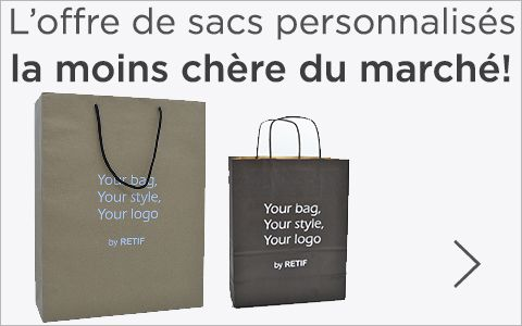 Personnalisez vos sacs! Profitez de l'offre la  moins chère du marché.
