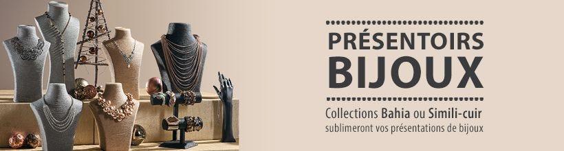 Présentoirs bijoux - Collections Bahia ou simili-cuir