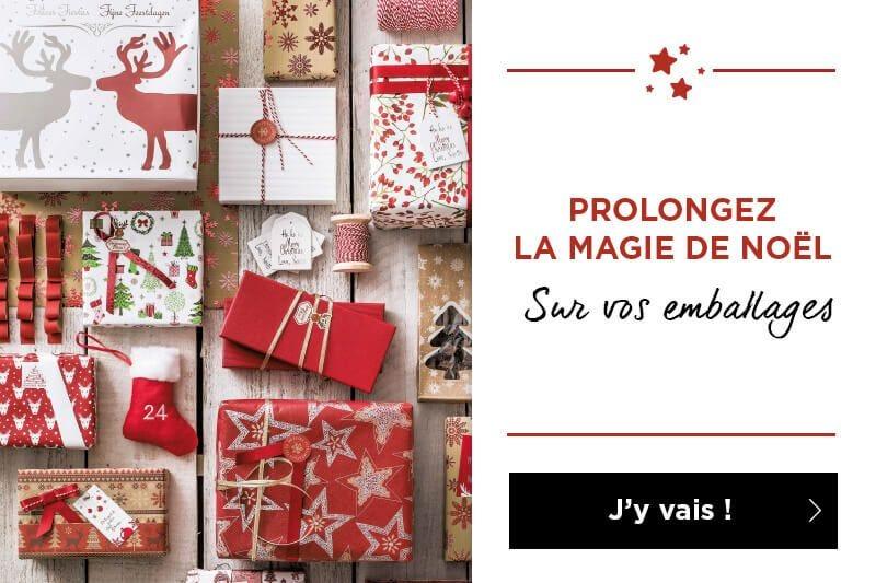 Prolongez la magie de Noël sur vos emballages