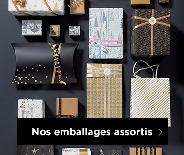 Emballages Noel collection Chic et or assortis
