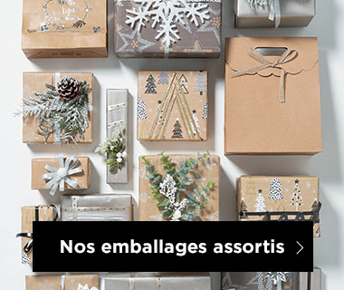 Emballages Noel collection Nature assortis