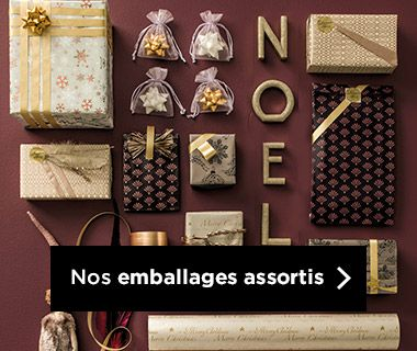 Emballages Noel 2019 collection So Romantique assortis