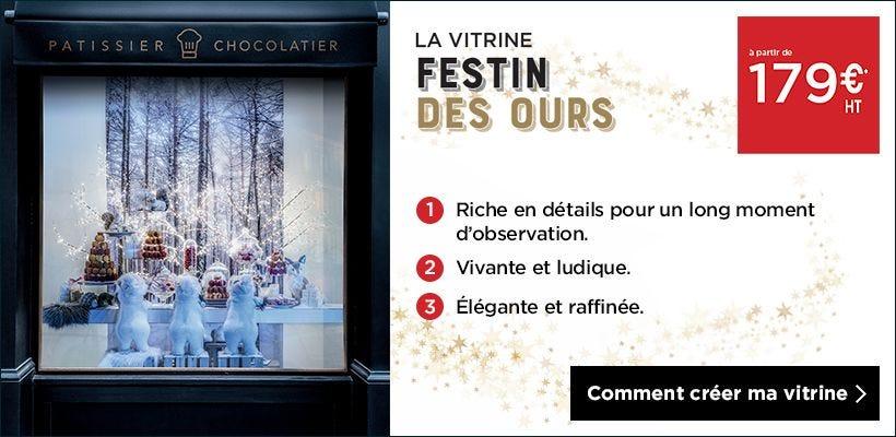 Noël 2018 Inspiration vitrine Festin des ours