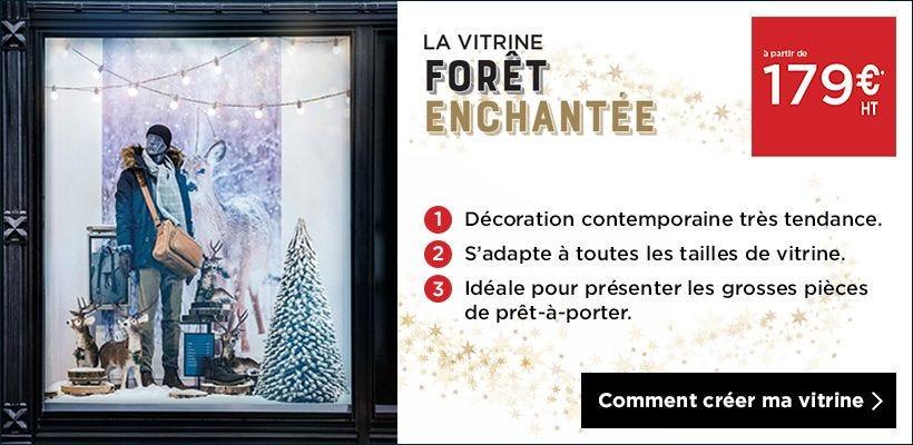 Noël 2018 Inspiration vitrine Forêt enchantée