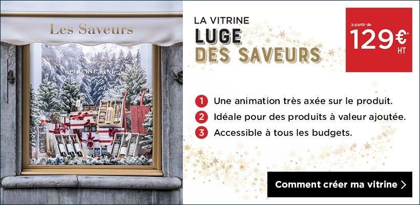 Noël 2018 Inspiration vitrine Luge des saveurs