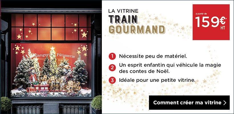 Noël 2018 Inspiration vitrine Train gourmand