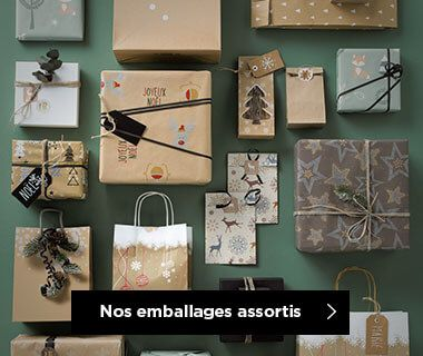 Emballages Noel 2019 collection Nature assortis