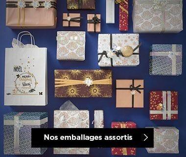 Emballages Noel 2019 collection Absolument féérique assortis