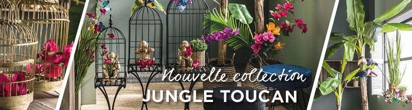 Nouvelle décoration Printemps Jungle Toucan