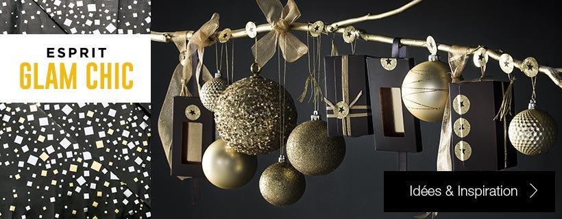 Inspiration déco Noël Esprit Glam Chic