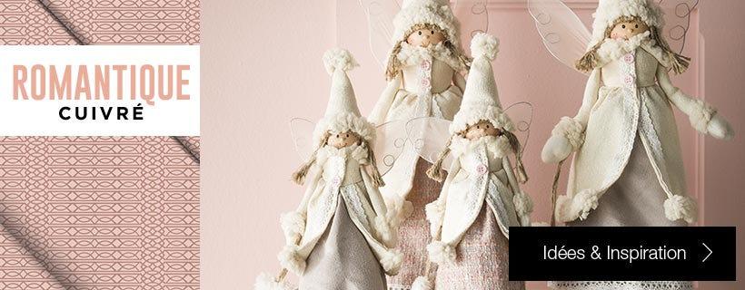Inspiration déco Noël Romantique cuivré
