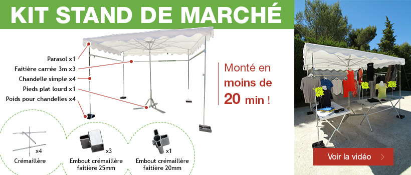 Kit stand de marché à moins de 500 Euros HT !