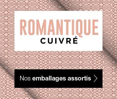 Emballages Noel 2017 collection Romantique Cuivré assortis