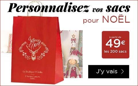 Vos sacs personnalisez pour Noël