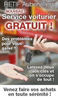 RETIF Aubervilliers : Nouveau service voiturier gratuit !