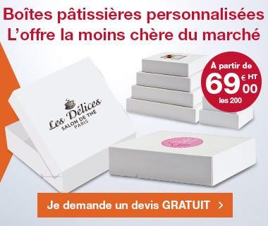 Personnalisation boîtes pâtissières