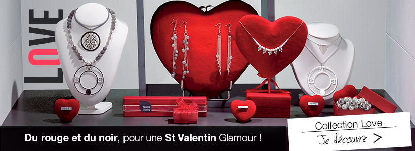 Ambiance de décoration St Valentin très glamour