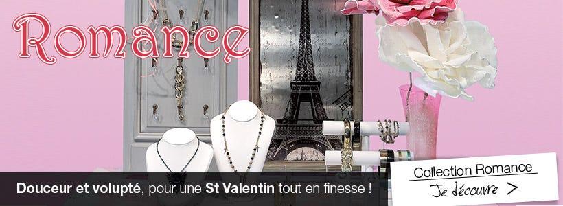 Ambiance de décoration St Valentin romantique