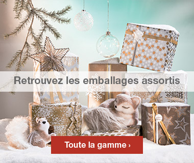 Emballages Noel 2016 collection Nature assortis