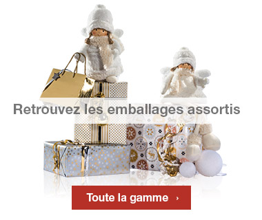 Emballages Noel 2016 collection Or assortis