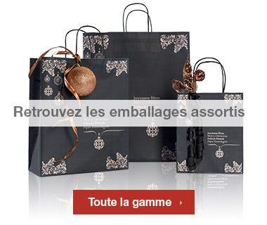 Emballages Noel 2016 collection Noir et cuivre assortis