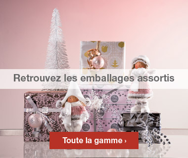 Emballages Noel 2016 collection Romantique assortis