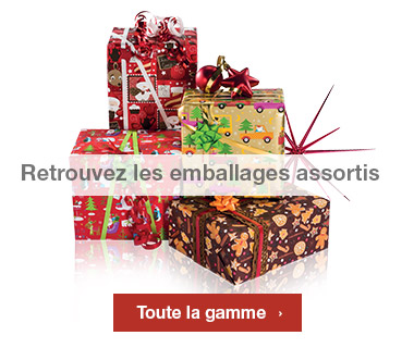 Emballages Noel 2016 collection Tendresse assortis