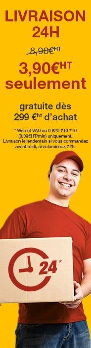 Livraison offerte dès 299 euros sinon 3.90 euros seulement !