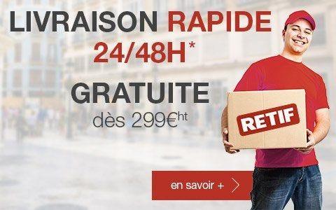 Livraison rapide en 24/48h* gratuite dès 299 Euros d'achats