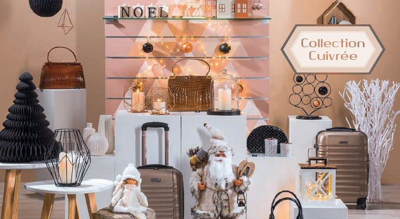 Décoration de Noël collection Cuivrée