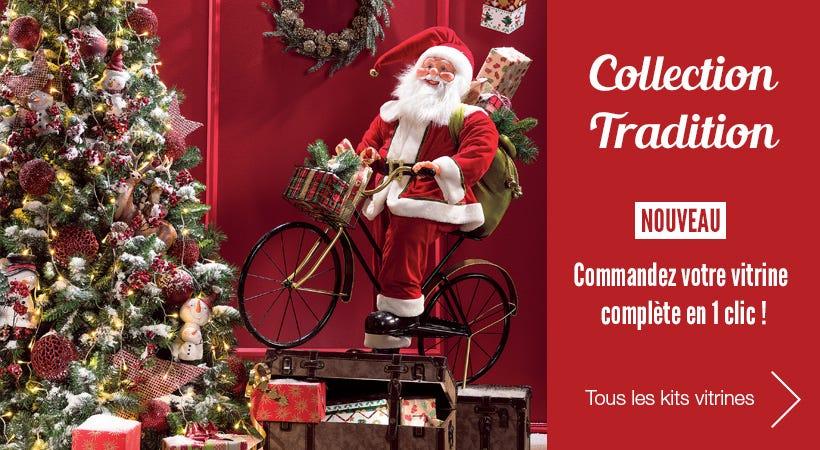 Kits vitrine de décoration de Noël