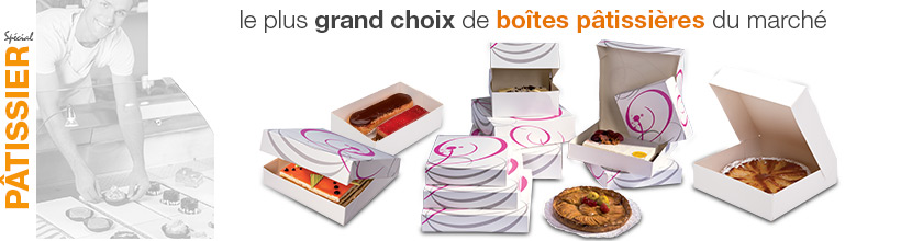 Boîtes pour pâtisserie