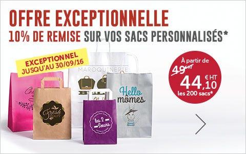 Promo Personnalisation de vos sacs de caisse