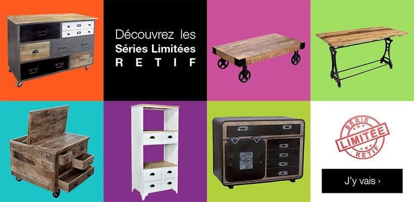 Nouveau mobilier en série limitée RETIF