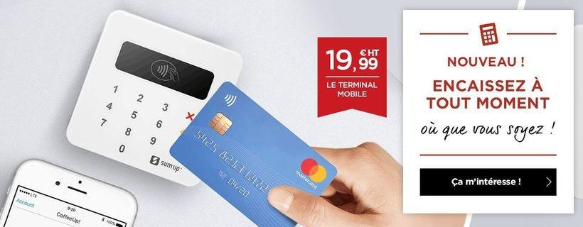 Terminal de paiement SUM UP ! Encaissez à tout moment avec le terminal de paiement mobile