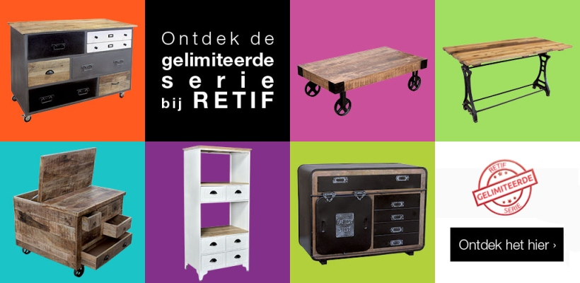 Nieuw gelimiteerde serie meubels RETIF