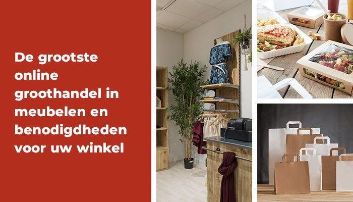 De grootste online groothandel in meubelen en benodigdheden voor uw winkel