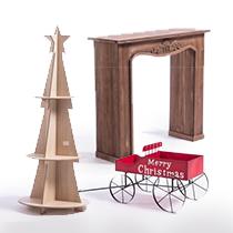 Présentoirs et décors de Noël