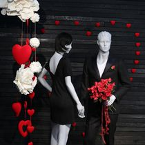 Vitrine St Valentin thème Love