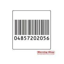 Etiquette antivol & étiquette code barre