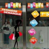 Stickers vitrine Soldes