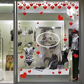 D coration saint valentin pour vitrine de commerces retif - Deco vitrine st valentin ...