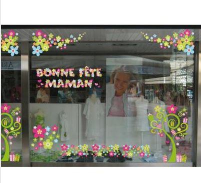 Stickers vitrines Fête des Mères