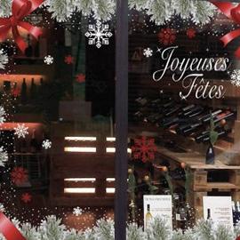 Stickers vitrine Noël