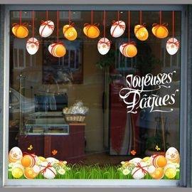 Stickers vitrine Pâques
