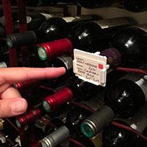 Porte-étiquette pour bouteille