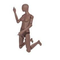 Mannequin femme flexible