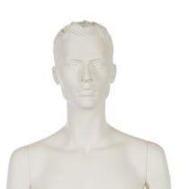 Mannequin homme cheveux sculptés
